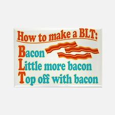 Funny Bacon BLT B.L.T. Sandwich Rectangle Magnet