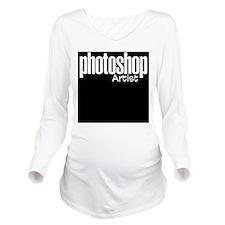 photoshop_logo2.png Long Sleeve Maternity T-Shirt