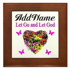 LET GO LET GOD Framed Tile