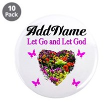 """LET GO LET GOD 3.5"""" Button (10 pack)"""