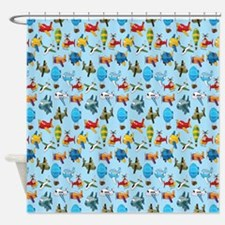 Baby Airplane Shower Curtain