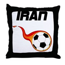 Cute Iranian football Throw Pillow