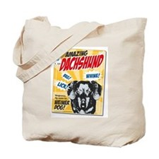 Amazing Dachshund Comics Tote Bag