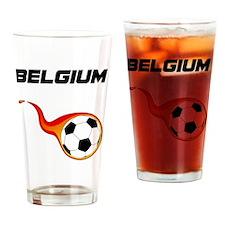 Cute Belgium soccer Drinking Glass