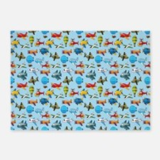 Baby Airplane 5'x7'Area Rug