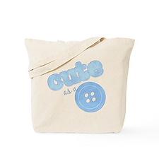 Cute As A Button II Blue Tote Bag