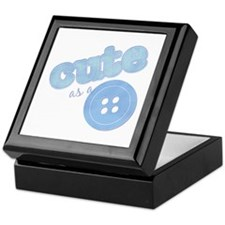 Cute As A Button II Blue Keepsake Box