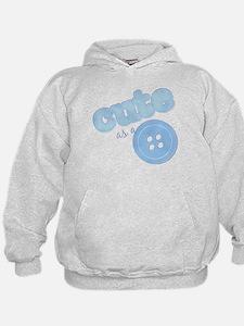 Cute As A Button II Blue Hoodie