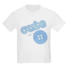 Cute As A Button II Blue T-Shirt