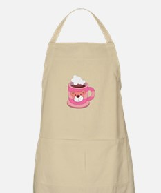 Hot Choclate Teddy Bear Cup Apron