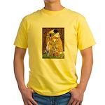 Kiss & Whippet Yellow T-Shirt