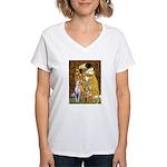 Kiss & Whippet Women's V-Neck T-Shirt
