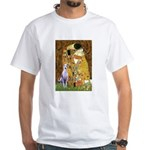 Kiss & Whippet White T-Shirt