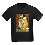Kiss & Whippet Kids Dark T-Shirt