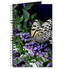 Butterfly Purple Flowers Nature Art Journal