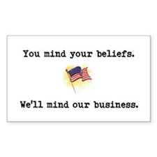 You Mind Your Beliefs Decal