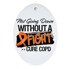 Cure COPD Ornament (Oval)