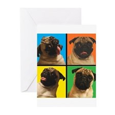 PUG SQUARES Greeting Cards (Pk of 10)