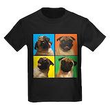 Pugs Kids T-shirts (Dark)