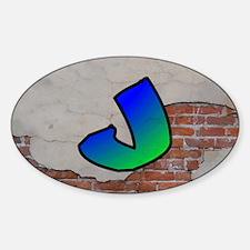GRAFFITI #1 J Decal