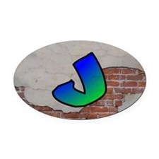 GRAFFITI #1 J Oval Car Magnet
