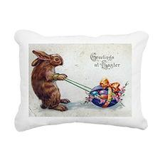 Cute Easter rabbit Rectangular Canvas Pillow