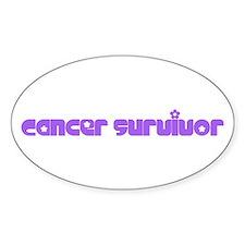 Flowers Cancer Survivor Decal