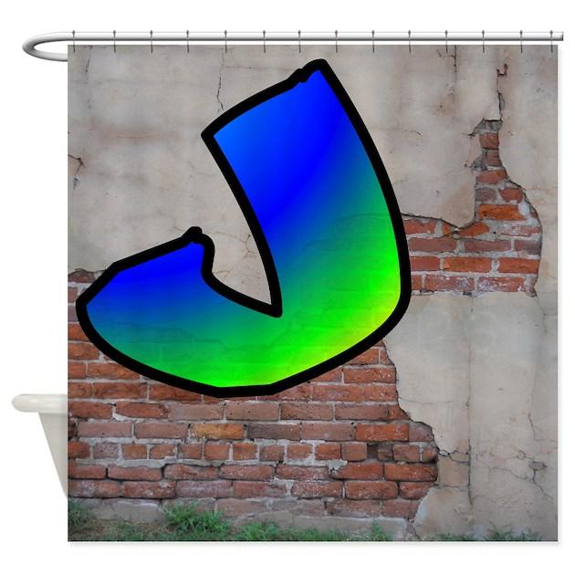 Graffiti 1 j shower curtain by monogramit
