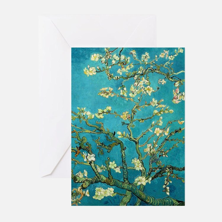 Vincent Van Gogh Blossoming Almond Tree Greeting C