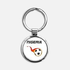 Unique Nigerian football Round Keychain