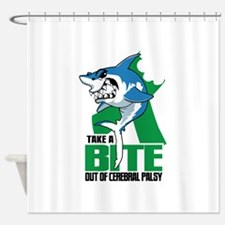 Take A Bite Out Of Cerebral Palsy Shower Curtain