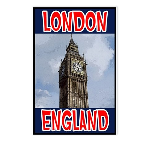London England Postcards (Package of 8)