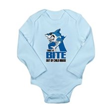 Bite Out Of Child Abus Long Sleeve Infant Bodysuit