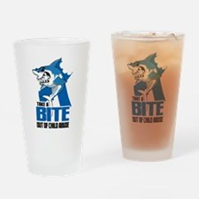 Bite Out Of Child Abuse Drinking Glass