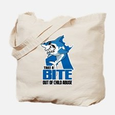 Bite Out Of Child Abuse Tote Bag