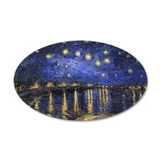 Van Gogh Starry Night Over The Rhone Wall Decal