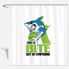 Bite Out Of Lymphoma Shower Curtain