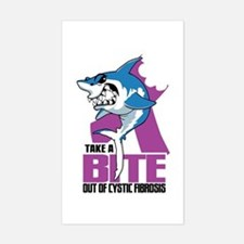 Bite Out Of Cystic Fibrosis Sticker (Rectangle)