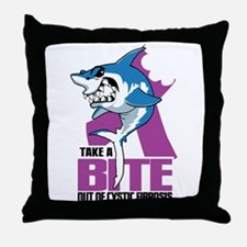 Bite Out Of Cystic Fibrosis Throw Pillow