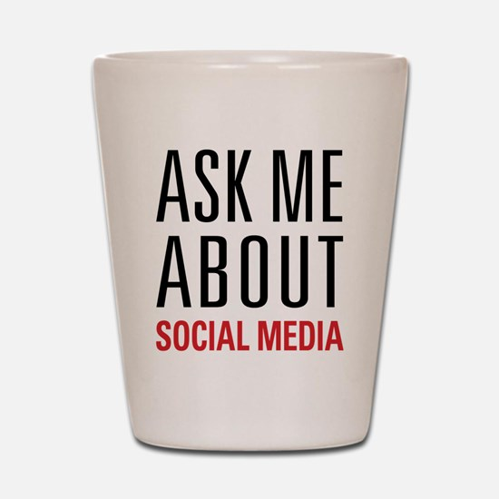 Social Media Shot Glass