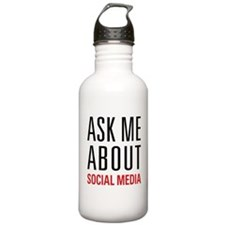 Social Media Sports Water Bottle