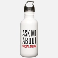 Social Media Water Bottle