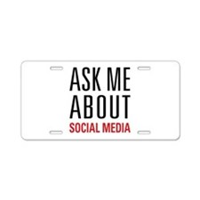Social Media Aluminum License Plate