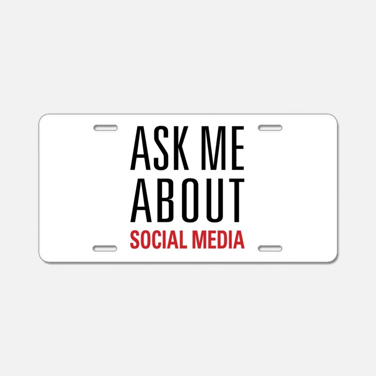 Social Media Aluminum License Plate