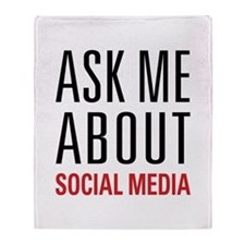 Social Media Throw Blanket