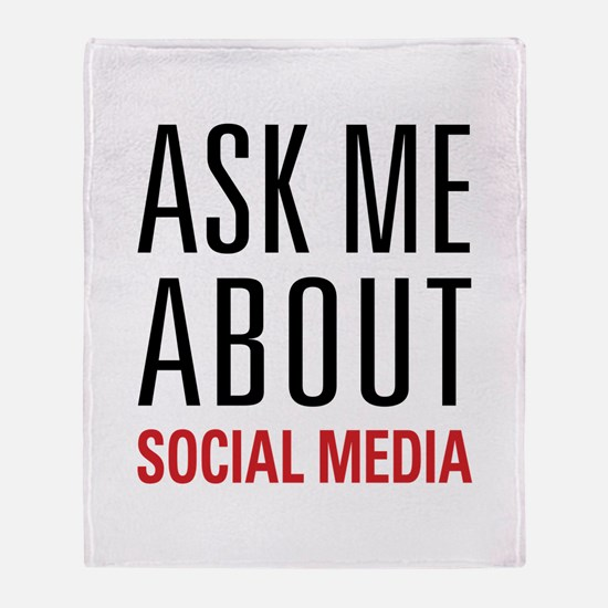Social Media Throw Blanket