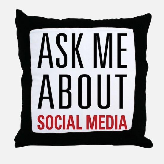 Social Media Throw Pillow