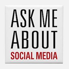 Social Media Tile Coaster