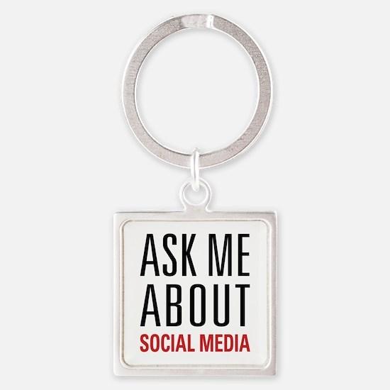 Social Media Square Keychain