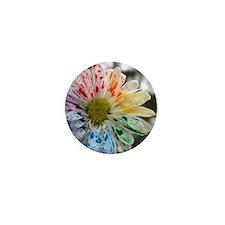 Paint flower Mini Button